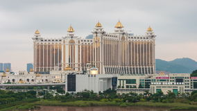 Macau cloudy day famous hotel panorama 4k time lapse china stock footage