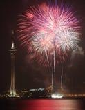 Macau Colorful Firework Stock Photos