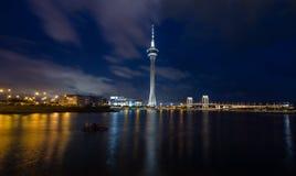 Macau en la noche Foto de archivo libre de regalías