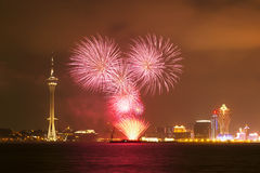 Macau Fireworks royalty free stock photo
