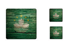 Macau flag Buttons Stock Photos