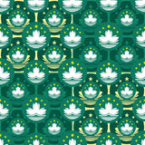 Macau flag icon symmetry seamless pattern Stock Photo