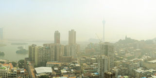 Macau in the fog Stock Photography