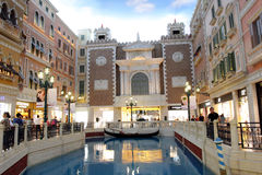 Macau : The Grand Canal Shoppes. The Grand Canal Shoppes in The Venetian Macao Royalty Free Stock Photos