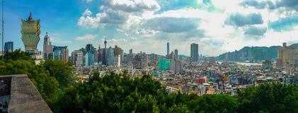 Macau& x27; horizonte de s imagen de archivo