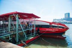Macau - January 15, 2018 :Speedboat from Hong Kong to Macau Stock Photography