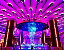 Macau kasyno zaświeca up zdjęcia stock