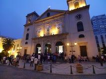 Macau katedra (Historyczny Centre Macao) Zdjęcia Royalty Free