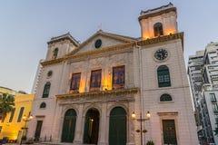 Macau katedra (Historyczny Centre Macau) Zdjęcie Royalty Free