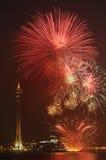 Macau Kolorowy fajerwerk Zdjęcie Royalty Free
