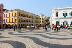 Macau : Leal Senado Square Royalty Free Stock Images
