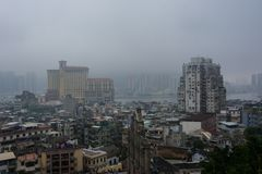 CLOUDY DAYS IN MACAO FROM AL royalty free stock image