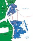 Macau mapa Zdjęcie Royalty Free