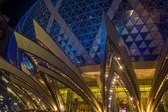 Macau Casino Lisboa. MACAU - MARCH 07 : The exterior of Lisboa hotel and casino on March 07 , 2018 in Macau . The hotel opened on 1970 and it`s have a total of 2 Stock Images