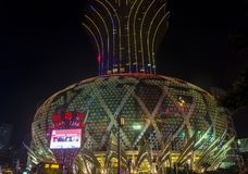Macau Casino Lisboa. MACAU - MARCH 07 : The exterior of Lisboa hotel and casino on March 07 , 2018 in Macau . The hotel opened on 1970 and it`s have a total of 2 Stock Photos