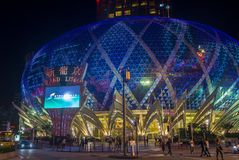 Macau Casino Lisboa. MACAU - MARCH 07 : The exterior of Lisboa hotel and casino on March 07 , 2018 in Macau . The hotel opened on 1970 and it`s have a total of 2 Royalty Free Stock Photography