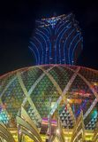 Macau Casino Lisboa. MACAU - MARCH 07 : The exterior of Lisboa hotel and casino on March 07 , 2018 in Macau . The hotel opened on 1970 and it`s have a total of 2 Stock Photography
