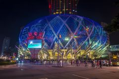 Macau Casino Lisboa. MACAU - MARCH 07 : The exterior of Lisboa hotel and casino on March 07 , 2018 in Macau . The hotel opened on 1970 and it`s have a total of 2 Royalty Free Stock Images