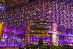 Macau Casino Lisboa. MACAU - MARCH 07 : The exterior of Lisboa hotel and casino on March 07 , 2018 in Macau . The hotel opened on 1970 and it`s have a total of 2 Royalty Free Stock Photo