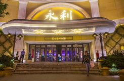Wynn Hotel Macau. MACAU - MARCH 07 :  The Wynn Hotel and casino in Macau on March 07 2018. The hotel has 594 rooms and opened in 2006 Royalty Free Stock Photo