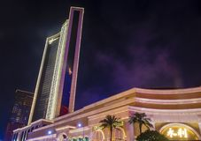 Wynn Hotel Macau. MACAU - MARCH 07 :  The Wynn Hotel and casino in Macau on March 07 2018. The hotel has 594 rooms and opened in 2006 Royalty Free Stock Photos