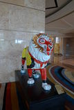 Macau MGM Hotel Casino lion sculpture monkey king Royalty Free Stock Photo