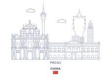 Macau miasta linia horyzontu, Chiny Obrazy Royalty Free