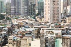 Macau mieszkaniowa wysokość - gęstość Zdjęcie Royalty Free
