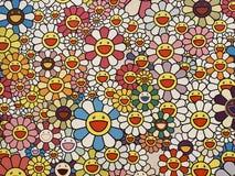 Macau Morpheus Hotel Takashi Murakami Flowers with Smiley Faces Design Icon Mural Illustration Kaikai Kiki Gallery installation