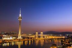 Macau na noite Foto de Stock