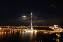 Macau-Nacht Stockbilder
