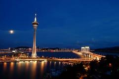 Macau-Nacht stockfotografie