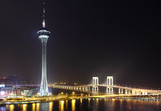 Macau at night Royalty Free Stock Photography