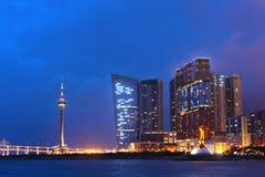Macau at night Royalty Free Stock Images