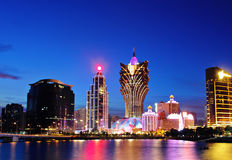 Macau at night Stock Photos