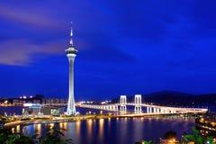 Macau at night Royalty Free Stock Photo