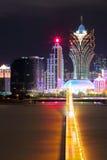 Macau at night Stock Image
