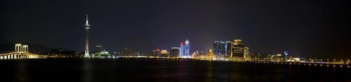 Macau Night Scene Stock Photo