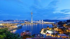 Macau night royalty free stock photo