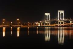 Macau Night View. Bridge nero Stock Images