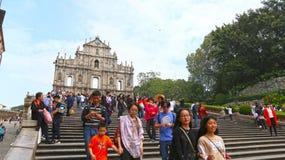 Macau novembro, 10 2016 - ruínas de Saint Paul Imagens de Stock