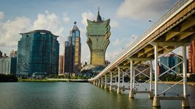 Macau point of view Royalty Free Stock Photo