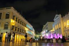 Macau: Quadrato Leal di Senado Fotografia Stock
