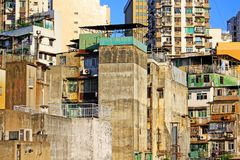 Macau Residence Building and Cityscape, Macau, China Royalty Free Stock Photos