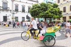 Macau : Rickshaw Stock Photo