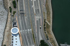 Macau road. View from top Stock Image