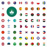 Macau round flag icon. Round World Flags Vector illustration Icons Set. Macau round flag icon. Round World Flags Vector illustration Icons Set Stock Image
