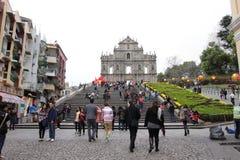 Macau : Ruins of St. Paul's stock image