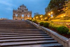 Macau Ruins of St. Paul`s Royalty Free Stock Photos