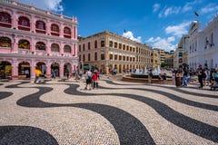 Macau, China - Senado square stock images